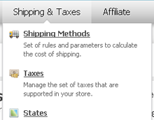 CS-Cart Administration panel - Shipping functionality