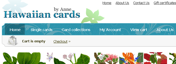 Hawaiian Cards by Anne. Totally Hawaiian splendid floral cards by Anne